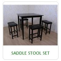 SADDLE STOOL SET